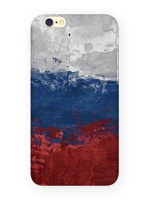 Чехол для IPhone 6 Флаг Российской Федерации Mitya Veselkov. Цвет: голубой, красный