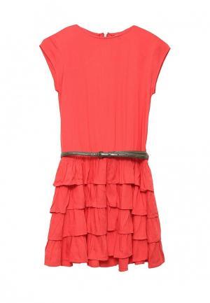 Платье Z Generation. Цвет: коралловый