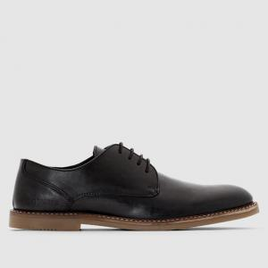 Ботинки-дерби кожаные на шнуровке REDSKINS. Цвет: черный