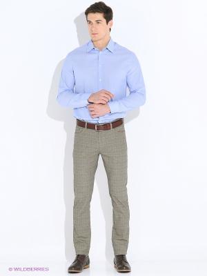 Рубашка INCITY. Цвет: голубой, светло-серый, серо-голубой