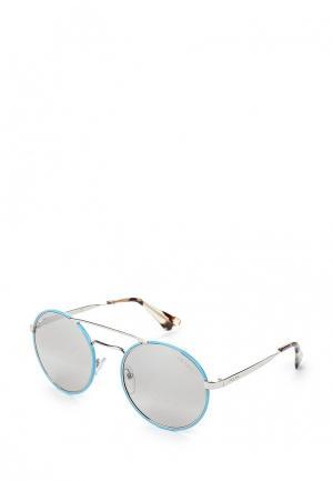 Очки солнцезащитные Prada. Цвет: голубой