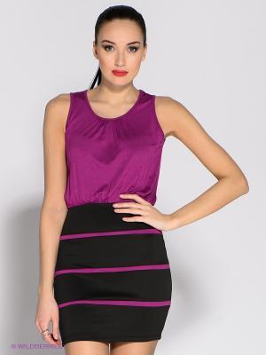 Платье Eunishop. Цвет: фуксия, черный