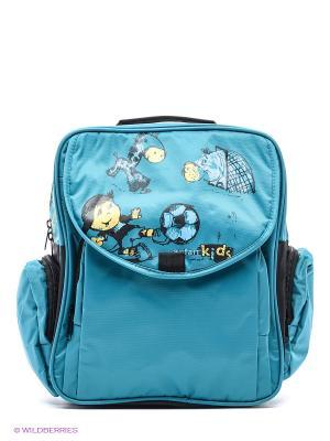 Рюкзак ANTAN. Цвет: голубой
