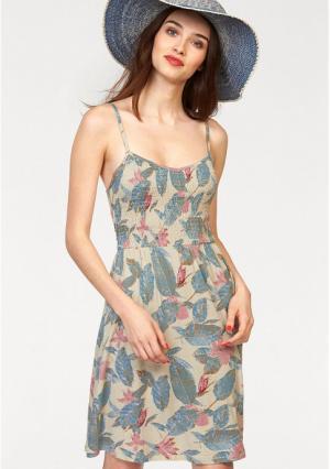 Платье AJC. Цвет: бежевый/индиго/розовый
