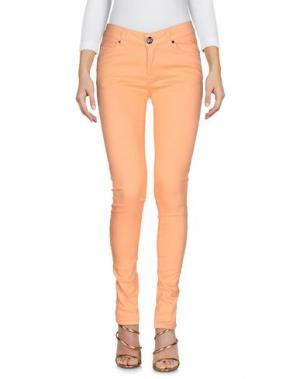Джинсовые брюки ATELIER FIXDESIGN. Цвет: абрикосовый
