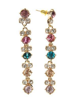 Серьги Infiniti. Цвет: серебристый, розовый, золотистый, бирюзовый
