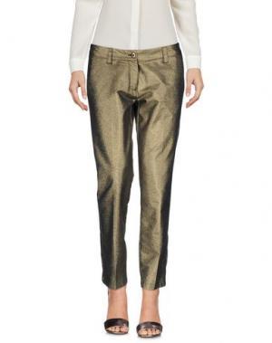 Повседневные брюки DENNY ROSE. Цвет: золотистый