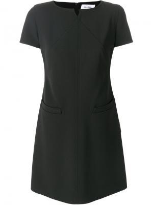 Приталенное платье шифт Courrèges. Цвет: чёрный
