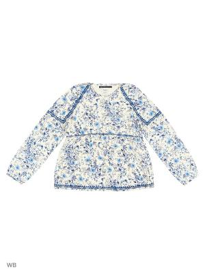 Блузка PEPE JEANS LONDON. Цвет: белый, синий