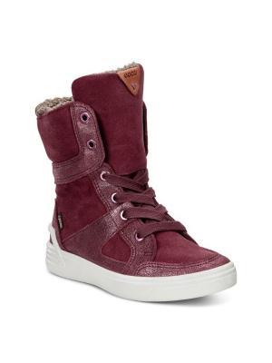 Ботинки ECCO. Цвет: бордовый, малиновый