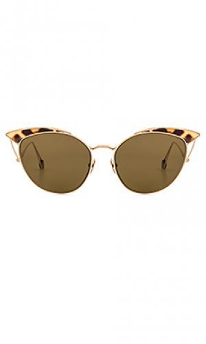 Солнцезащитные очки place violet Ahlem. Цвет: металлический золотой