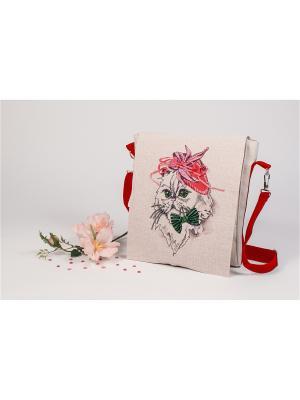 Набор для шитья и вышивания текстильная сумка-планшет Сонечка Матренин Посад. Цвет: серый, бежевый, красный