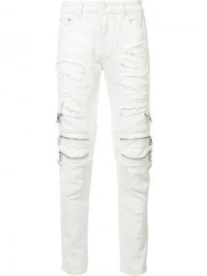 Рваные джинсы кроя скинни Gods Masterful Children God's. Цвет: белый