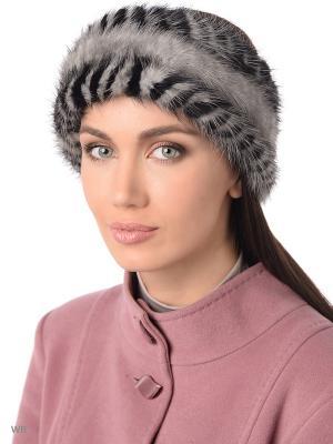 Повязка на голову Ваша Шляпка. Цвет: светло-серый, черный