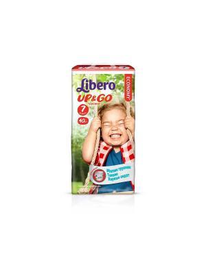 Libero Трусы детские одноразовые Up&Go экстра лардж плюс 16-26кг 40шт упаковка мега. Цвет: зеленый