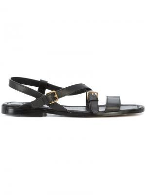 Crisscross strap sandals Paul Andrew. Цвет: чёрный