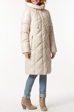 Пальто D`imma. Цвет: жемчужный