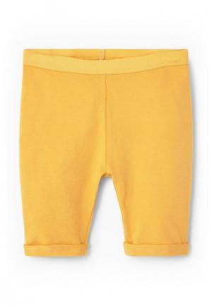 Леггинсы Mango Kids. Цвет: желтый
