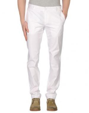 Повседневные брюки GREY DANIELE ALESSANDRINI. Цвет: белый