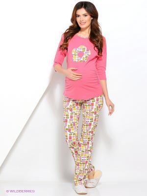 Домашний костюм для беременных ФЭСТ. Цвет: розовый