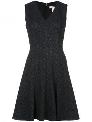 Расклешенное платье с цветочной вышивкой Rebecca Taylor. Цвет: многоцветный
