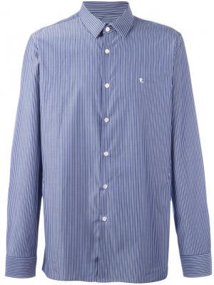 Полосатая рубашка Raf Simons. Цвет: синий