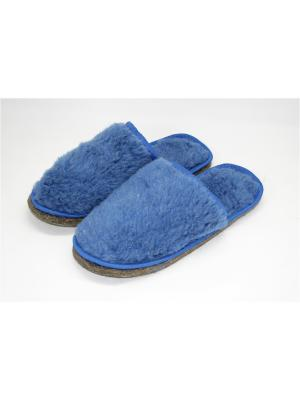 Тапочки Тефия. Цвет: голубой, светло-голубой