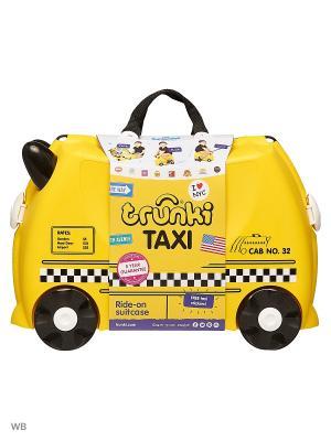 Чемодан на колесах Тони таксист TRUNKI. Цвет: желтый