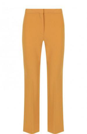 Укороченные расклешенные брюки со стрелками Theory. Цвет: желтый