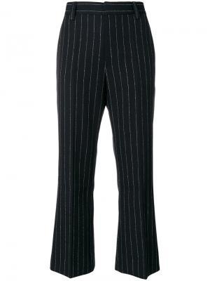 Укороченные брюки в полоску Marc Jacobs. Цвет: чёрный