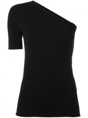 Блузка на одно плечо Zanone. Цвет: чёрный