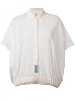 Блузка с потайной планкой Boboutic. Цвет: розовый и фиолетовый