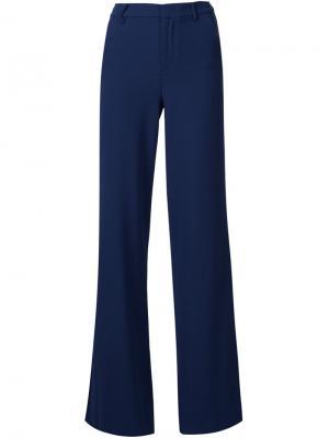 Расклешенные брюки Paula Alice+Olivia. Цвет: синий