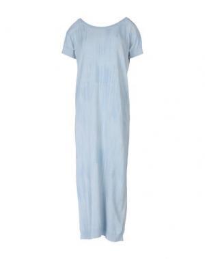 Платье длиной 3/4 BRAND UNIQUE. Цвет: небесно-голубой