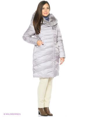 Пальто стеганное DEIFY. Цвет: светло-серый
