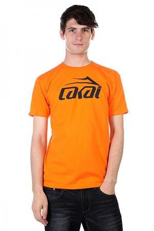 Футболка  Logo Orange Lakai. Цвет: оранжевый