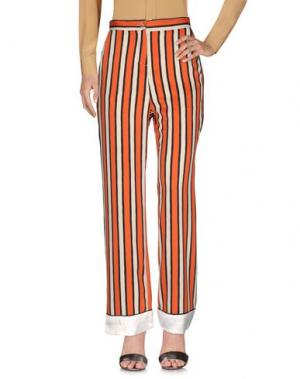 Повседневные брюки ANGELA MELE MILANO. Цвет: ржаво-коричневый
