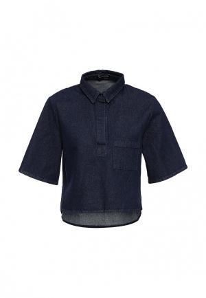 Рубашка джинсовая The Fifth. Цвет: синий