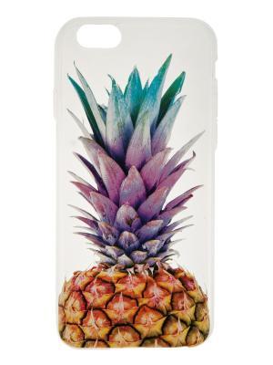 Чехол крышка задняя для iphone 6 ананас IQ Format. Цвет: коричневый, голубой, фиолетовый
