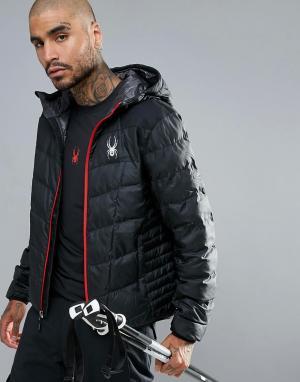 Spyder Куртка с капюшоном Ski Geared. Цвет: черный