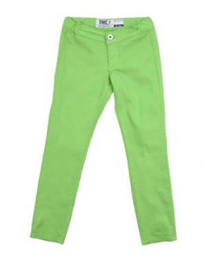 Джинсовые брюки TAKE-TWO TEEN. Цвет: кислотно-зеленый
