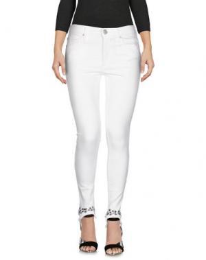 Джинсовые брюки TRUE RELIGION. Цвет: белый