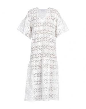 Платье длиной 3/4 WEILI ZHENG. Цвет: белый