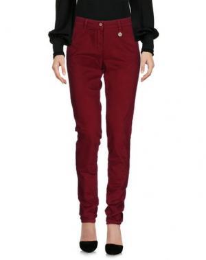 Повседневные брюки MOTEL. Цвет: красно-коричневый
