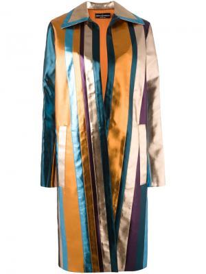 Полосатое пальто Cristiano Burani. Цвет: многоцветный