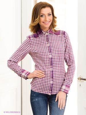 Рубашка Valeria Lux. Цвет: сиреневый, молочный