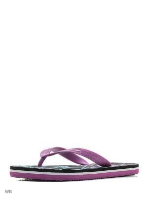 Шлепанцы DIADORA. Цвет: черный, фиолетовый