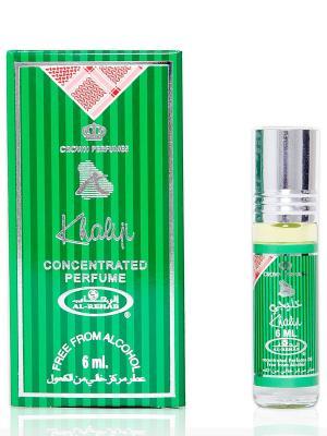 Арабские масляные духи Халиджи (Khaliji), 6 мл Al Rehab. Цвет: зеленый, серебристый