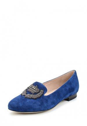 Лоферы Just Couture. Цвет: синий
