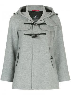 Короткая куртка на застежках Loveless. Цвет: серый